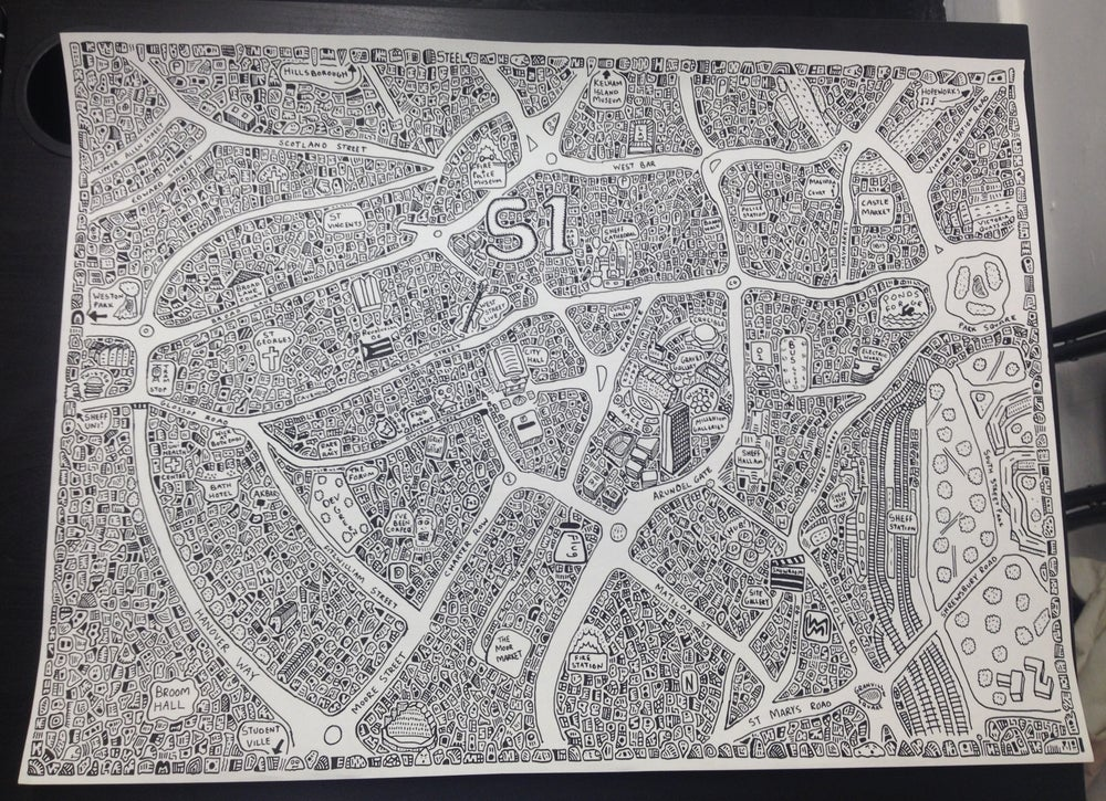 Image of Sheffield Doodle Map