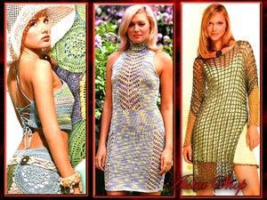 Image of Crochet Patterns eBook Irish Lace Dresses Wedding Diagram FREE SHIPPING - JMDID