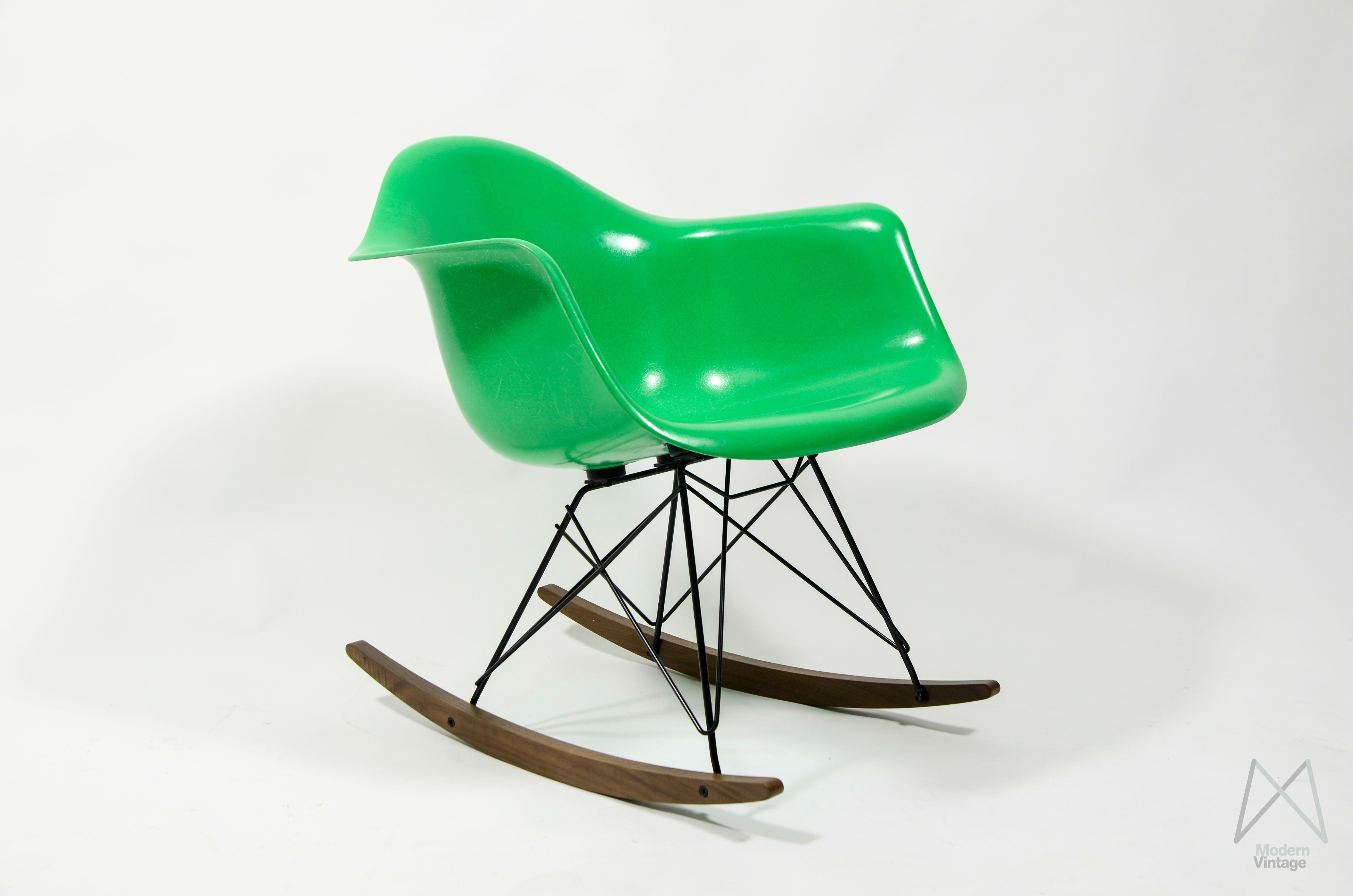 Image Of Eames Herman Miller Rocking Chair RAR Kelly Green NEW Fiberglass