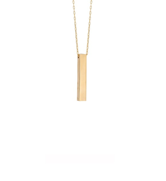Image of Short Drink Gold Necklace