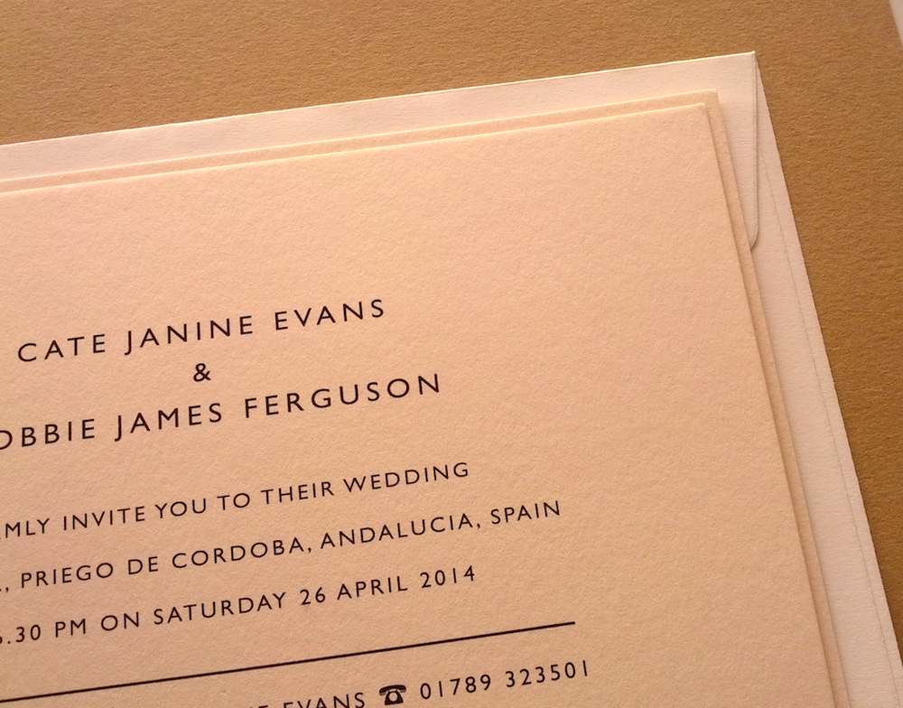 Image of Sample Wedding Invitation / Digitally Printed