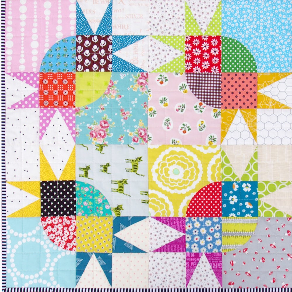 Pickle Dish Variation Quilt - Templates and Foundation Paper Piecing Pattern / Red Pepper Quilts