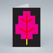Image of Pink Leaf card