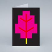 Image of Pink Leaf card