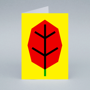 Image of Red Leaf card