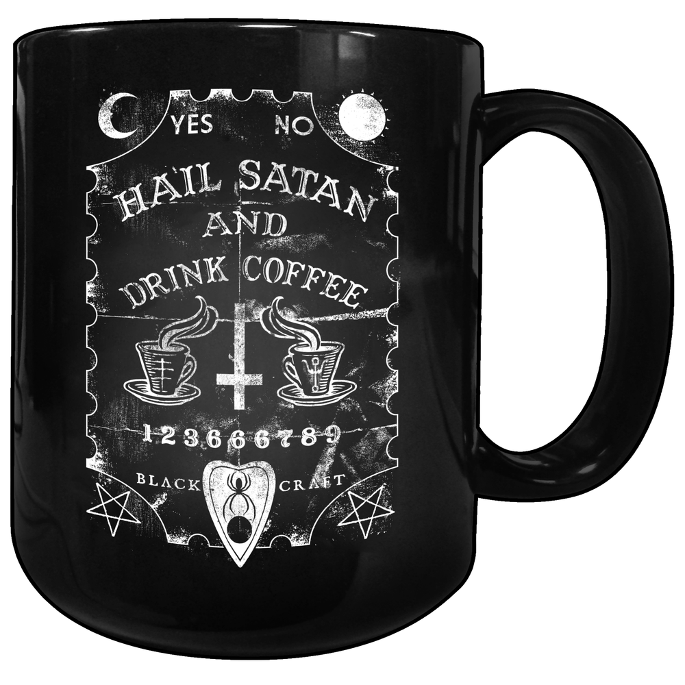 Image of Hail Satan And Drink Coffee - Coffee Mug