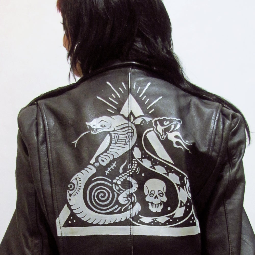 Image of Psychedelic Snakes Motorcycle Jacket
