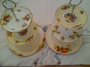 Image of 3 Tier Vintage China Cake Stand
