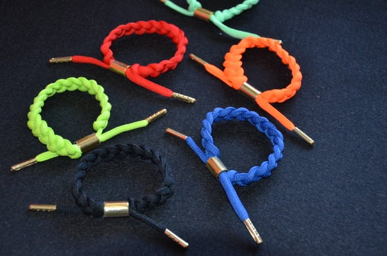 "Image of Exclusive ""Braided Laces"" Custom Bracelets"