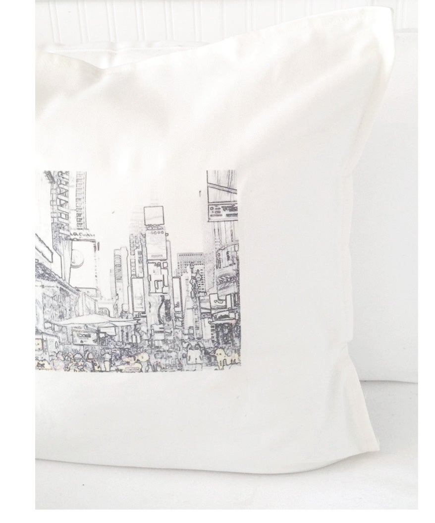 """Image of  """"TIMES SQUARE- NEW YORK CITY""""  CUSHION COVER"""