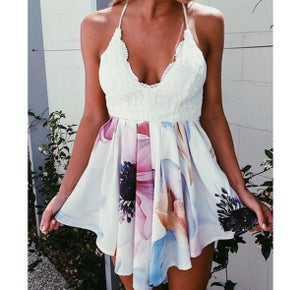 Image of HOT ELEGANT LACE FLORAL ROMPER