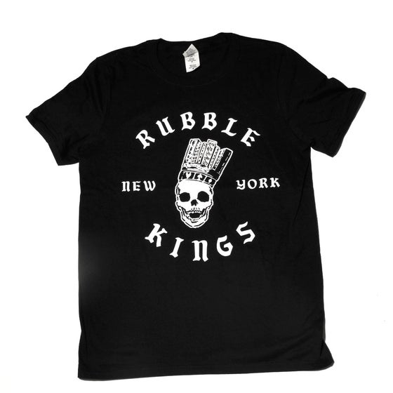 Image of RUBBLE KINGS  BLACK T-SHIRT - ROCKSTEADY DESIGN
