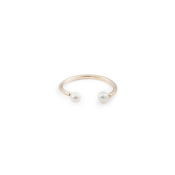 Image of Open Pearls Ring - 14k Gold