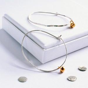 Image of Pebble hammered loop earrings