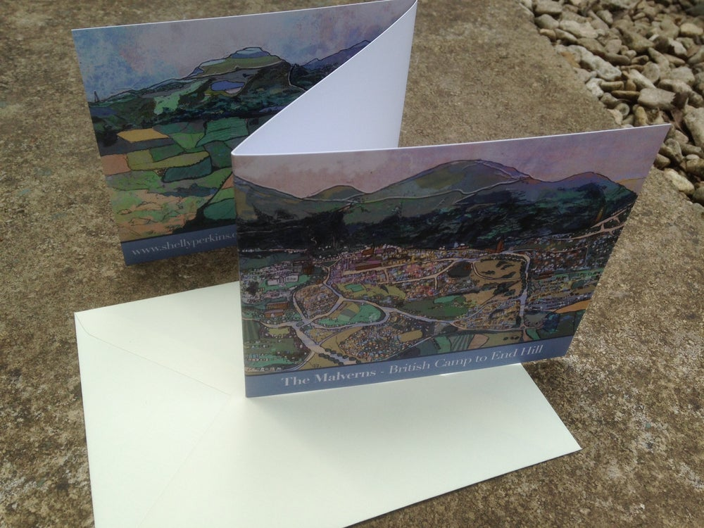 Image of British Camp to End Hill - Bi-fold Greetings Card