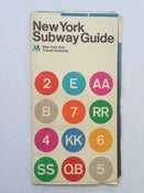 Image of Original 1972 New York Subway Map by Massimo Vignelli