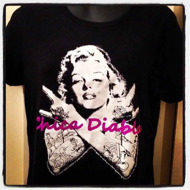 Image of Chica Diabla - Marilyn rocker tee - Men's and Women's sizes