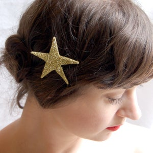 Image of Starlette Sparkler Hair Pin Gilded Gold