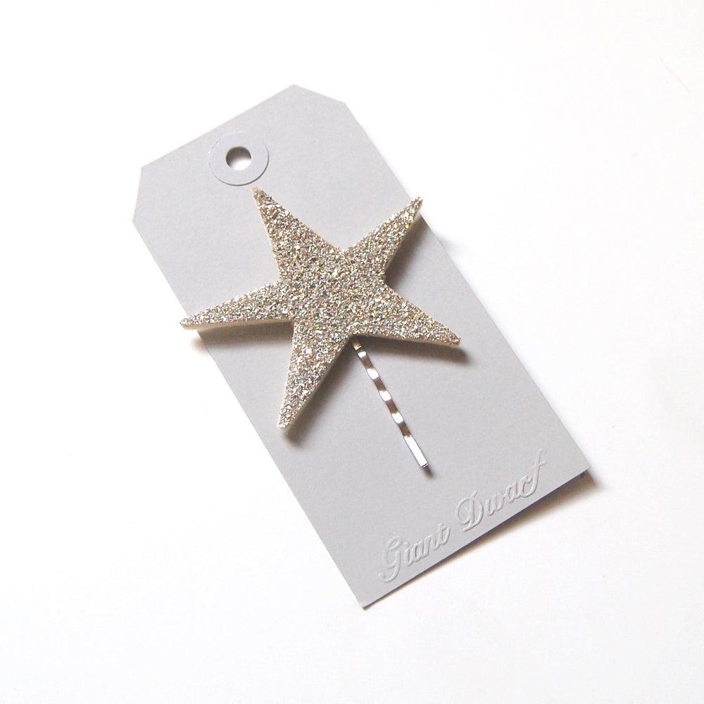 Image of Starlette Sparkler Hair Pin Sterling Silver