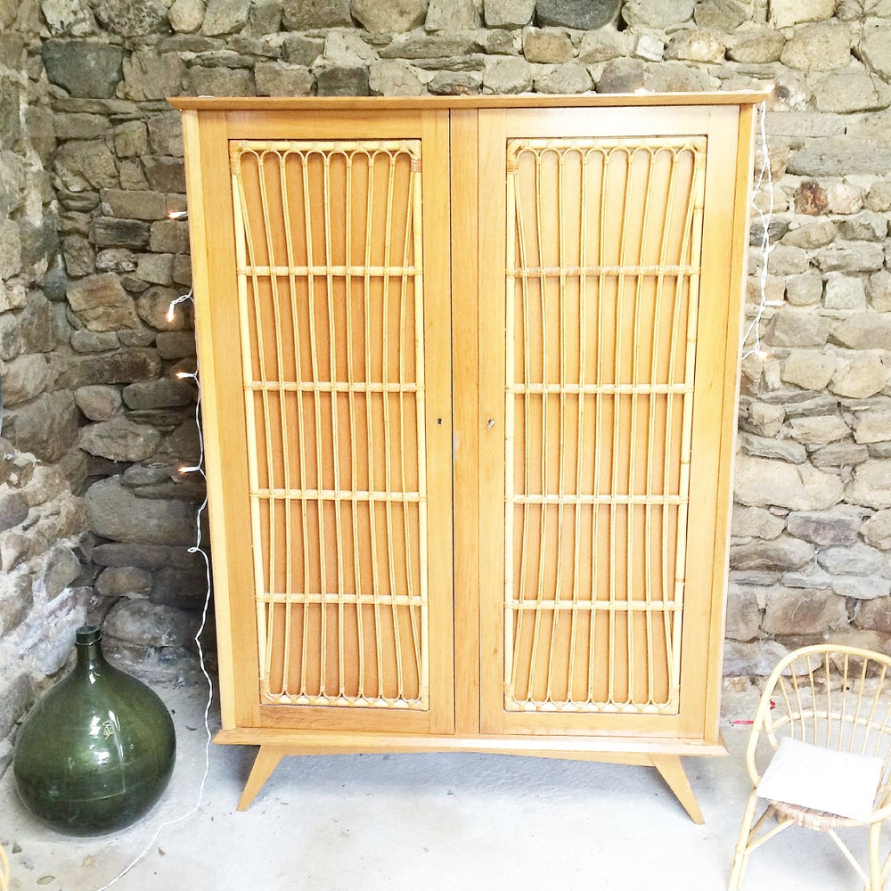 Image of MAGGY ARMOIRE ROTIN