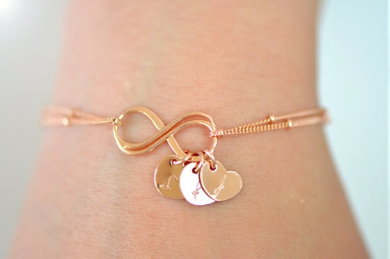Rose Gold Double Infinity