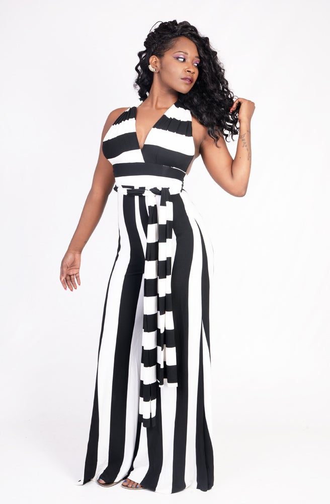 Image of STRIPE OR DYE JUMPSUIT