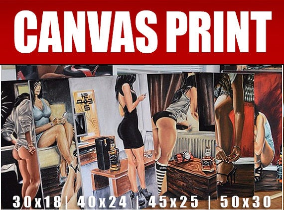 Image of ALL CANVAS PRINTS Jeremy Worst Collection Limited Edition Original Giclee Prints art