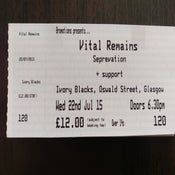 Image of Vital Remains tickets, July 22nd, Glasgow