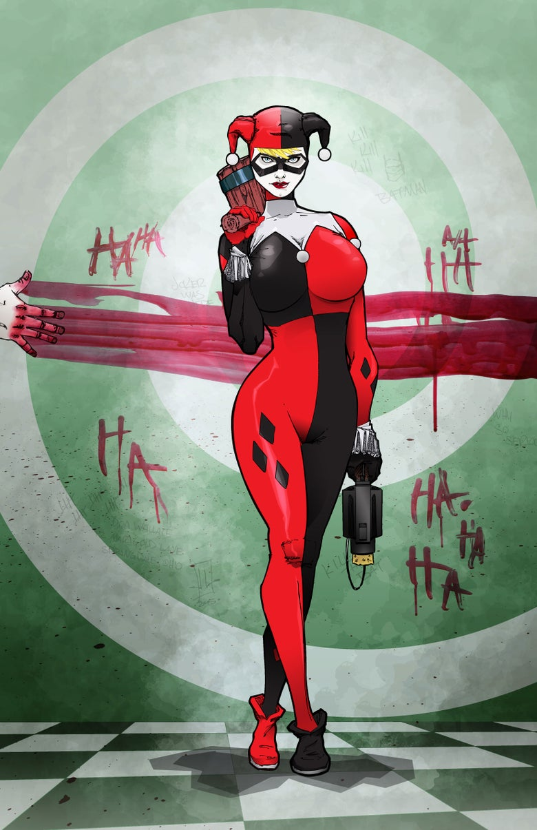 "Image of <font size=""3"">HONEYMOON SUITE HARLEY QUINN </font><br>CLASSIC COSTUME<br><font color=""000000"">"