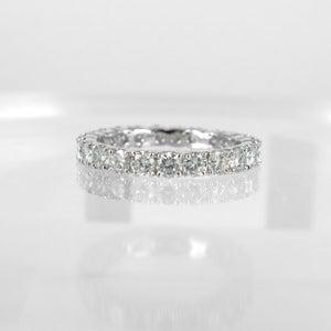 Image of 18ct white gold full circle diamond ring