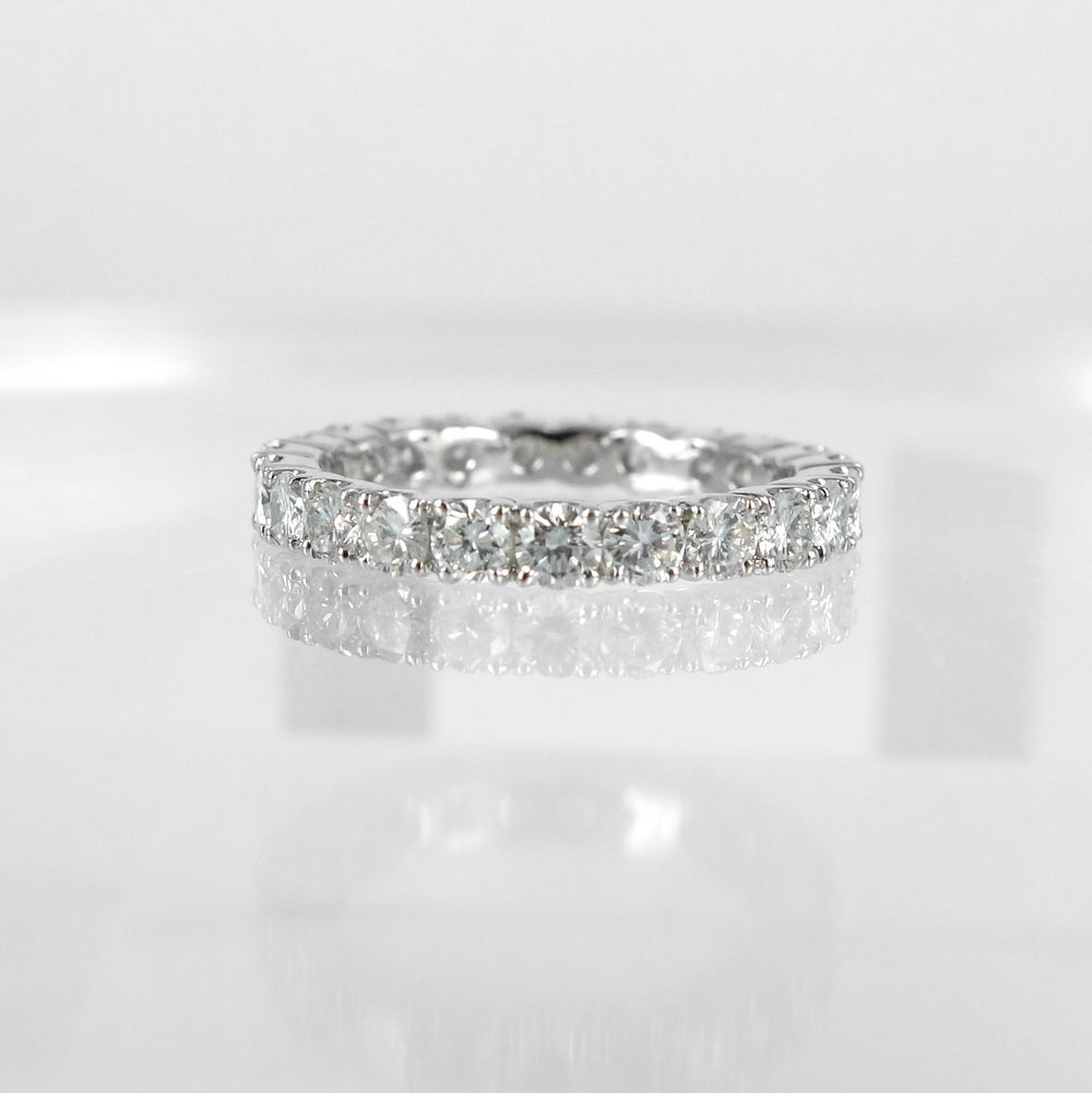 Image of 18ct white gold full circle diamond ring