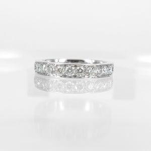 Image of 18ct white gold Full circle diamond eternity band