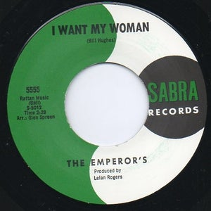"Image of 7"" The Emperors : I Want My Woman / And Then."