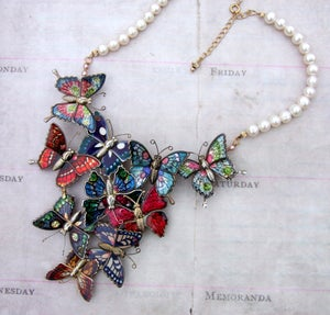 Vintage Butterfly Statement Necklace - Laura Pettifar Designs