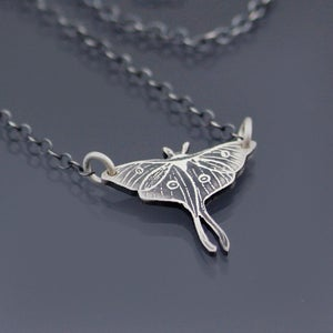 Image of Small Luna Moth Necklace