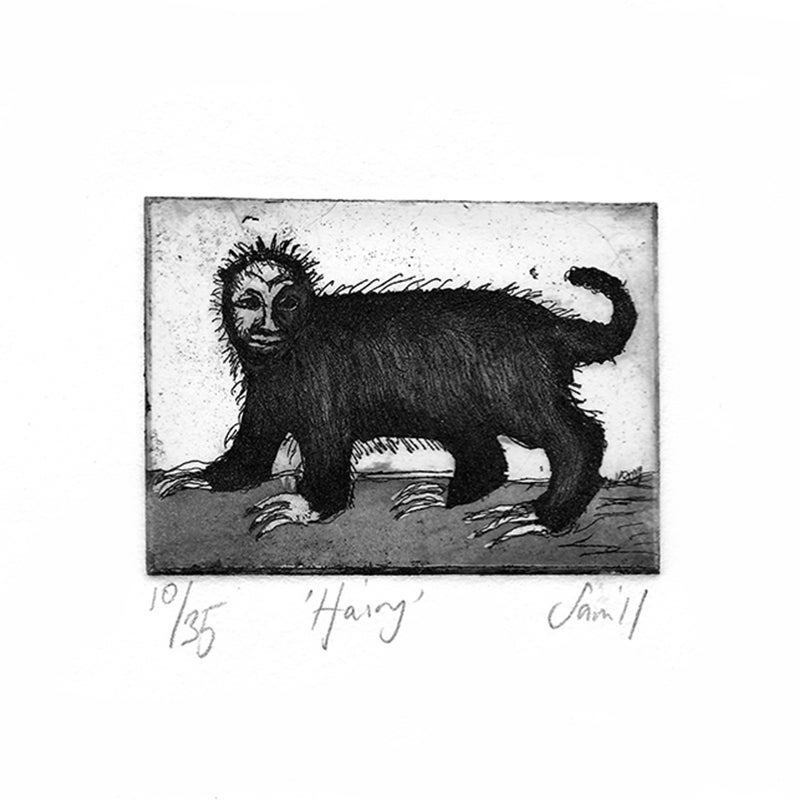 Image of 'Hairy' - Etching