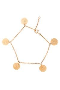 Image of LUCK N LOVE 5 Coin Bracelet Gold