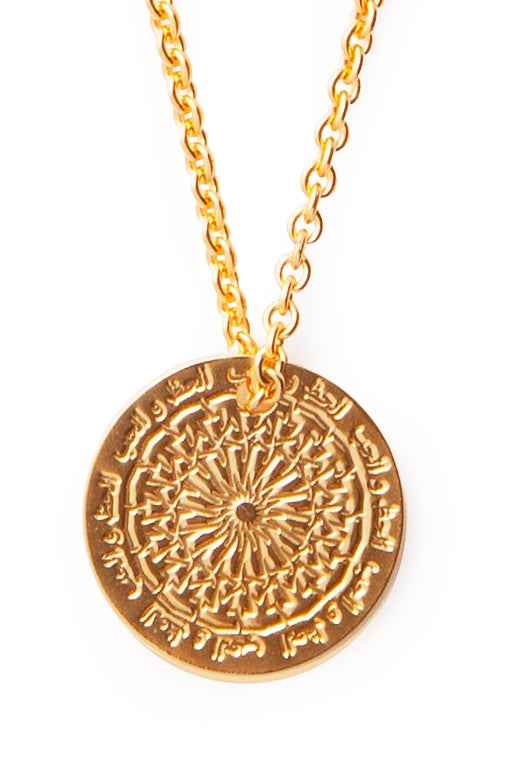 Image of LUCK N LOVE Necklace Big Coin Gold
