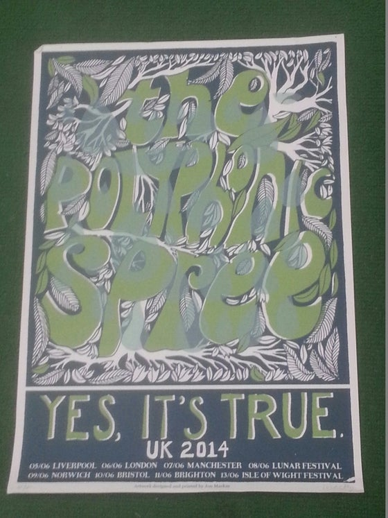 Image of Yes, It's True UK Tour Poster