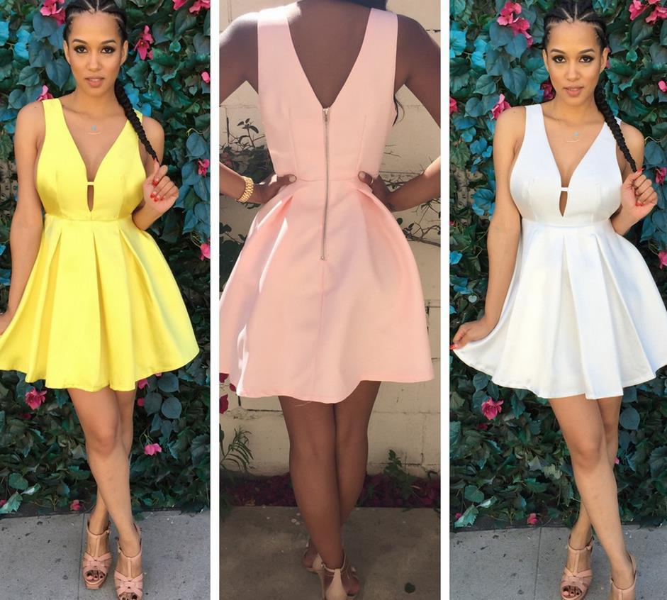 Image of Sexy V sleeveless dress