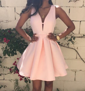 Image of Sexy V sleeveless dress