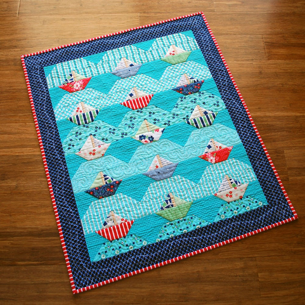 Image of Willoughby Bay - Sailboat PDF Quilt Pattern