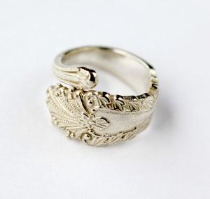 Sterling Silver Plated Vintage Spoon Ring - Laura Pettifar Designs