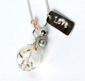 Lottie Love Charm & Dandelion Seed Wish Necklace in Sterling Silver - Laura Pettifar Designs