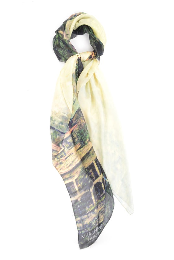 Image of Italian Lakes Silk Chiffon Scarf