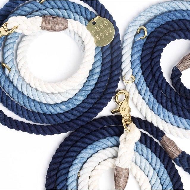 Image of Indigo, Ombre Rope Lead