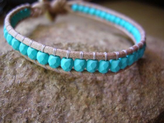 Image of Single Turquoise Wrap Bracelet