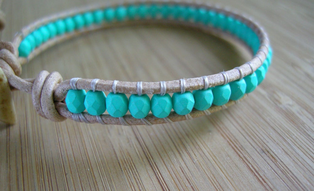 Image of Single Turquoise Wrap Bracelet