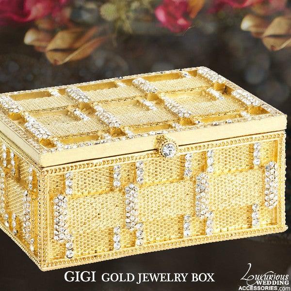 Image of Gigi Gold Swarovksi Crystal Jewelry Box