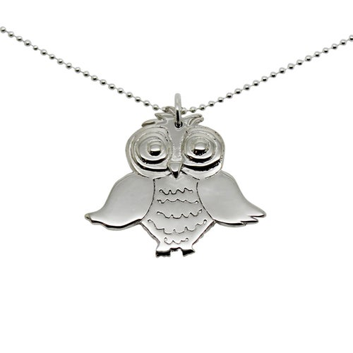Image of OWL Sterling Silver Necklace
